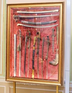 Armor and weapons etc from Yildiz Palace, Turkey. Antique Display Cabinets, Adventure Aesthetic, Swords, Palace, Weapons, Armour, Turkey, Museum, Boat