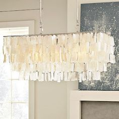 Capiz Chandelier From West Elm We Have This Over Our Kitchen Table At Beach