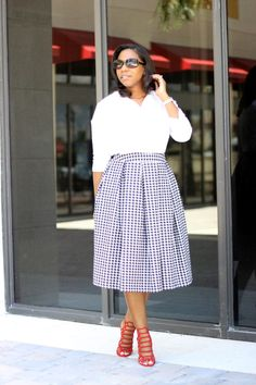 "White Shirt + Midi Skirt  ""Confessions"""