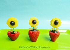 Spring Fruit Flower Snack