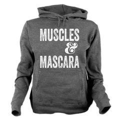 Muscles & Mascara Women's Hooded Sweatshirt #fitness #beauty #motivation