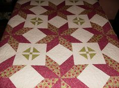 Big Star Block Queen Size Quilt by madeinUSAbyLinda on Etsy  SOLD