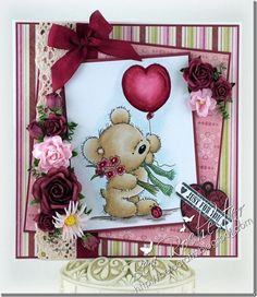LOTV - Teddy With Balloon - http://www.liliofthevalley.co.uk/acatalog/Stamp_-_Teddy_with_Balloon.html