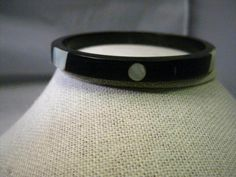 """Vintage Pair of Inlaid Mother-of-Pearl Bangle Bracelets, 8"""" - 2.75"""" opening #unbranded #banglebracelet"""