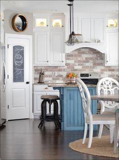 Do-It-Yourself Brick Veneer Backsplash | Bricks, Kitchens and House