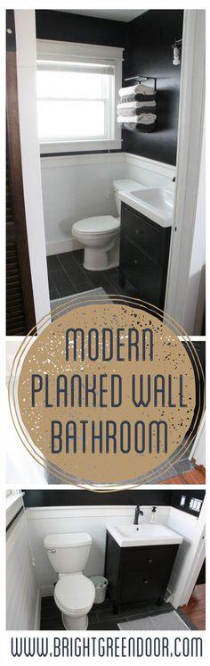 Modern Planked Wall Bathroom