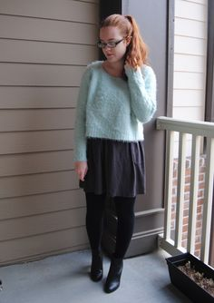 So, so cozy in this amazing fuzzy sweater <3 { full outfit post at stripedflats.com }