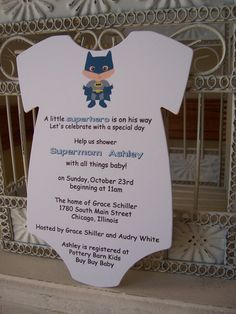 Superhero Baby Shower Invitation