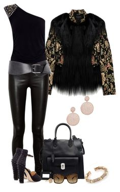 """""""Untitled #1405"""" by lisa-holt ❤ liked on Polyvore featuring The Row, Balenciaga, Pieces, Gucci, Roberto Marroni and Lisa Freede"""