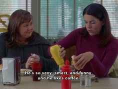 and he likes coffee #gilmore #girls