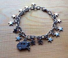 Glamping under the Stars Charm Bracelet / by SassyLemonade on Etsy