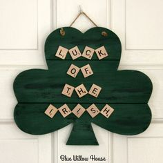 I've struggled with whether or not to decorate for St. Patrick's Day but I picked up a woodenshamrock at Target in the Dollar Spot. By the way it is now named Bullseye's Playgro…