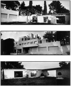 """In 1923 Charles and Marie-Laure de Noailles commission Robert Mallet-Stevens to build - on the heights overlooking Hyères - 'an infinitely practical and simple house,' where everything, according to Charles de Noailles, 'follows the same principle: functionality"""". Mondrian, Laurens, Lipchitz, Brancusi and Giacometti introduce works of art, Jourdain the furniture, and Guévrékian the Cubist garden. In addition to the clear, structured forms and defined contrasts, this resolutely modern…"""