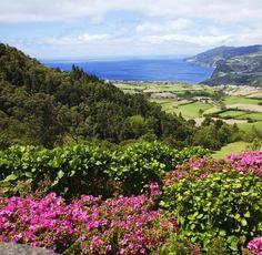 Ein Blick auf Sao Miguel, die Hauptinsel der Azoren