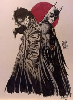 WHEN DID THIS HAPPEN?! Batman and The Crow by James O'Barr Comic Art