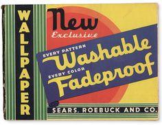 1939 wallpaper catalog, Sears, Roebuck and Co. | via Depression Press