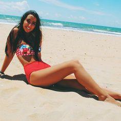 Beachin' #surania #bikini #floral #swimwear #fashion #summer beach @belenfortes  www.surania.com