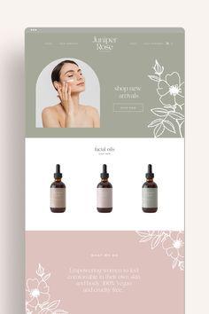 Juniper Rose Skincare Shopify Website Design