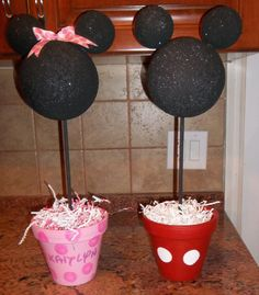 Minnie and Mickey Mouse Centerpeice by DoodlesSweetTreats on Etsy, $25.00