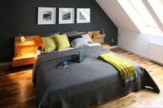 Attic Bedroom with Luxurious Interior Luxury Rooms, Luxury Interior, Interior Design, Loft Room, Bedroom Loft, Loft Design, Bed Design, Bedroom Wall Colors, Bedroom Decor