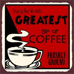 Worlds Greatest Coffee Vintage Metal Art Cafe Diner Retro Tin Sign