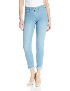 NYDJ Womens Anabelle Skinny Boyfriend Jeans In Sky Blue Denim Palm Bay 10 * More info could be found at the image url. #Jeans