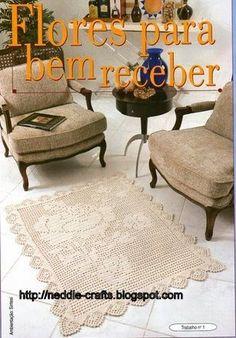سجاده كروشيه صغير -small crochet carpet ~ ... Free crochet chart for making!شغل ابره NEEDLE CRAFTS