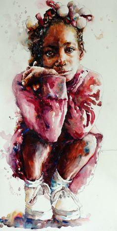 Watercolor by American artist by Bev Jozwiak.