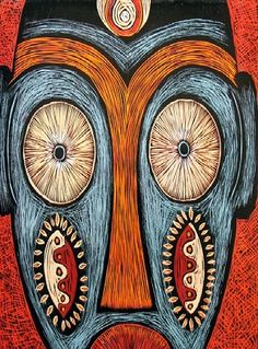 African Art. Simple but with creative patterns.