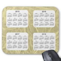 2015-2018 Calendar by Janz Yellow Fern Mousepad Mousepad