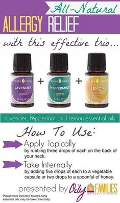 Allergies.. Natural relief with essential oils - young living