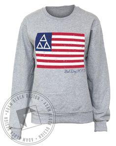 Delta Delta Delta Living The American Dream Crew Neck Sweatshirt by Adam Block Design