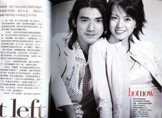 black and white takeshi kaneshiro   Takeshi Kaneshiro and Gigi Leung on a magazine in black and white