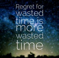 Regret for wasted time is more wasted time. #life #quotes
