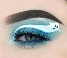 50 Best Halloween Eye Makeup Ideas Looks Trends 2018 23 Eye Makeup Art, Smokey Eye Makeup, Eyeshadow Makeup, Glow Makeup, Fun Makeup, Awesome Makeup, Fairy Makeup, Skull Makeup, Mermaid Makeup