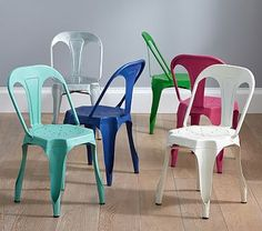 Metal Play Chair #pbkids - matches my 8 new Tolix chairs in cottage diningroom