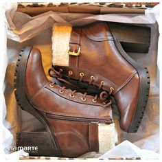 botas de cano curto - coturno de salto alto - winter heels - marrom - boots - Inverno 2015 - Ref. 15-5803                                                                                                                                                      Mais
