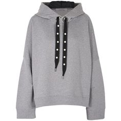 Dorothee Schumacher     Cosy Casual Pearl Embroidered Hoody ($450) ❤ liked on Polyvore featuring tops, hoodies, grey, embroidered hooded sweatshirts, long sleeve hoodie, long sleeve hoodies, embroidered hoodie and grey hoodie