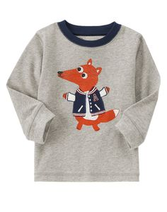 Athlete Fox Long Sleeve Tee at Gymboree