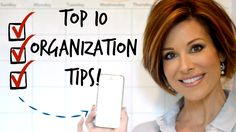 10 Painless Organization Tips For Busy Women - So!!!! Helpful to watch, even if you already flow with Organization, listening to this video it is a great refresher or a life saver to a NewBee in how to organize.