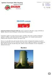 Impianto gassificazione 250 kwe NEWS