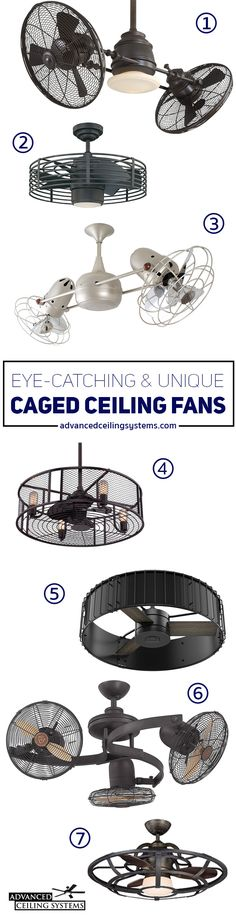 Whether your decor is farmhouse rustic or contemporary cage enclosed ceiling fans are guaranteed to make a statement! Caged ceiling fans add a ton of character to spaces such as kitchens, bedrooms and covered patios. And they are an easy way to give your desired space a charming and up to date look.