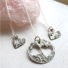 Hey, I found this really awesome Etsy listing at https://www.etsy.com/listing/162665991/mother-daughter-necklace-set-piece-of-my