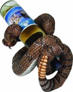 Rattlesnake  Wine Bottle Holder by River's Edge,