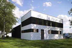 DOM.PL™ - Projekt domu KP G236 - Budynek magazynowo - biurowy CE - GARAŻ KT3-56 - gotowy koszt budowy Floor Plans, Flooring, Mansions, House Styles, Home Decor, Hardwood Floor, Luxury Houses, Interior Design, Home Interior Design