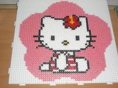 Flower Hello Kitty hama beads by marylene