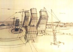 Wheatley created over 700 sketches to get an idea of the High Rise building as the film's main character