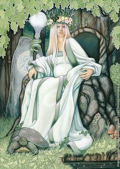 Card: The Mother Deck: Dreams of Gaia Tarot by Ravynne Phelan