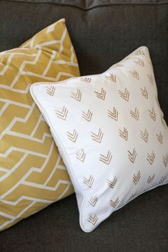 DIY Painted Pillow Cases