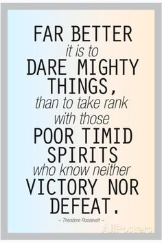 Dare Mighty Things Teddy Roosevelt Motivational Plastic Sign Wall sign at AllPosters.com